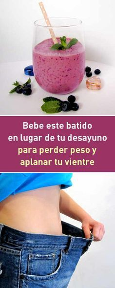 Bebe este batido púrpura en lugar de tu desayuno para perder peso y aplanar tu vientre #bebida #batido #perderpeso #adelgazar #aplanar #vientre #vientreplano