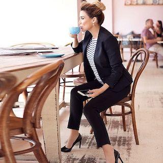 Dannii Minogue Petites Ponte Pants - Black