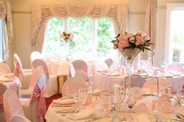 Rosebank set for a gorgeous wedding with pink sashes