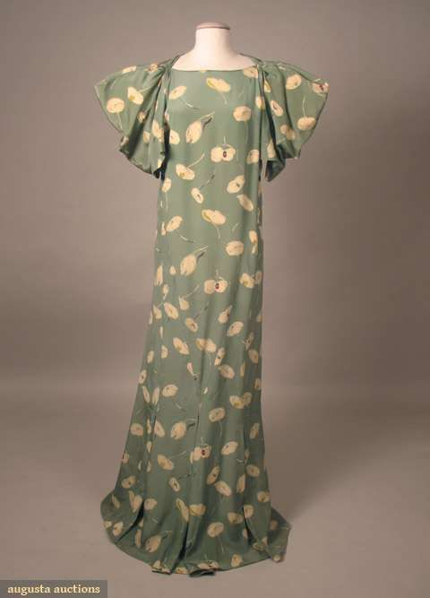 Vionnet Attributed Silk Day Dress, C.