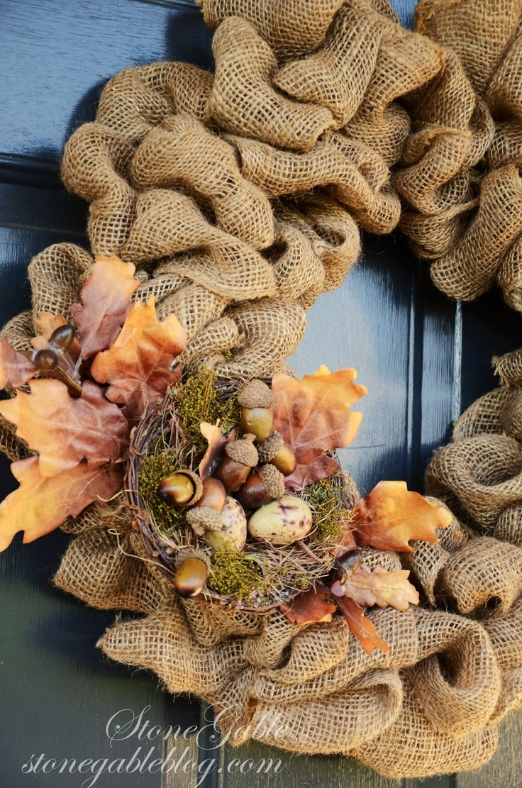 Burlap Wreath Tutorial Home Decor Fall Wreath Burlap
