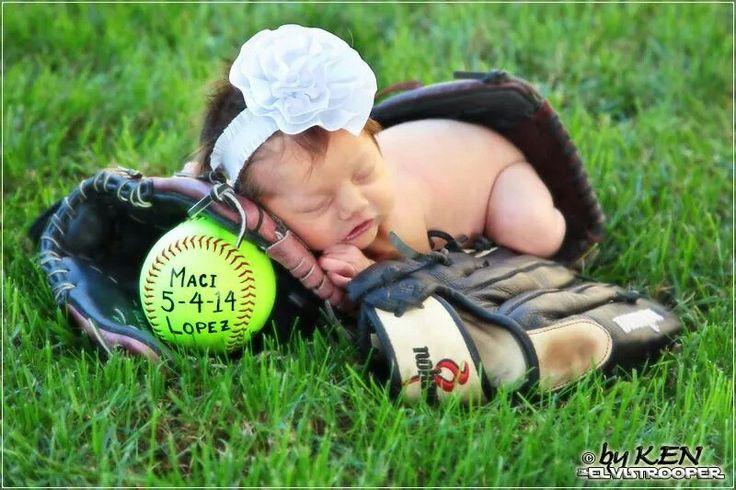 Softball newborn picture! Love it!!!