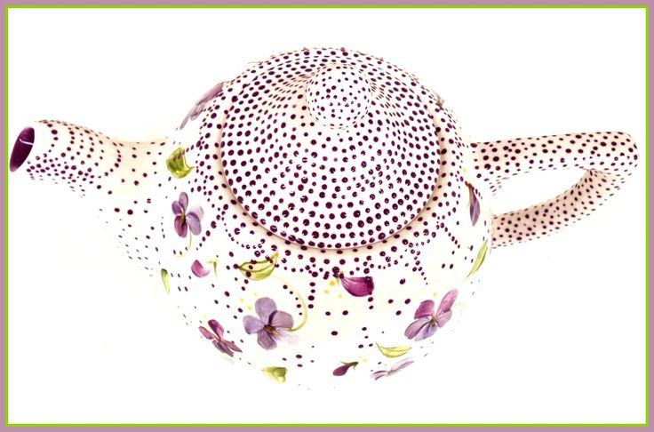 Izabella's Teapot...with Lavender Dots, too many to count..  :)