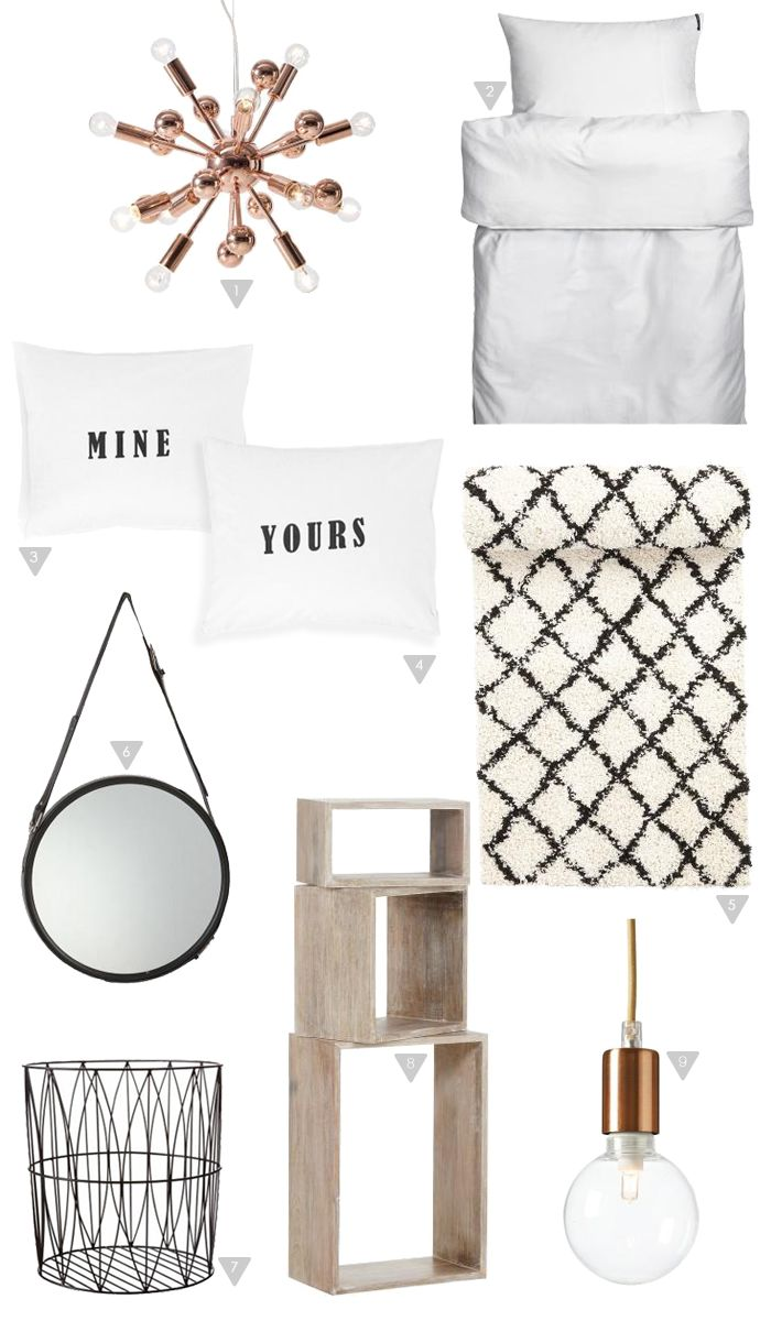 Friday Favorites_bedroom, Copper, Scandinavian, on a budget