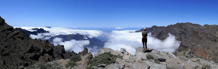 Wandeling GR-131 over de rand van de Caldera de Taburiente, La Palma.