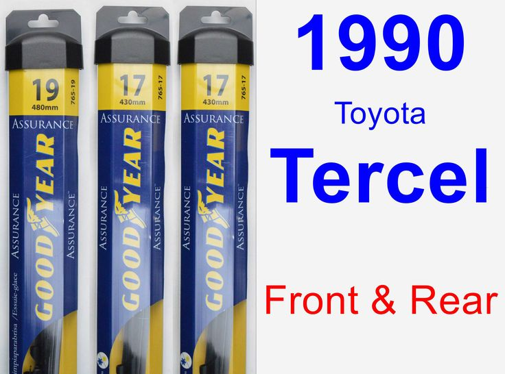 front rear wiper blade pack for 1990 toyota tercel assurance products cars and toyota. Black Bedroom Furniture Sets. Home Design Ideas