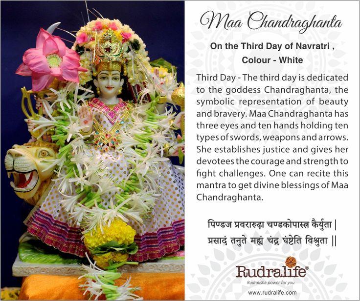 3rd Day of Chaitra Navratri  #navratri #mata #hindu #india #festival #gudipadwa #navratra #navratre #rudralife #shiva #rudraksh #god #goddess #chandraghanta #maachandraghanta