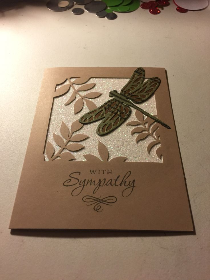I made an alternative card from the December 2017 Flora and Flutter paper pumpkin kit. I was so excited with this kit I forgot to put the green leaves in the background. So I used the dragonfly thinlits and the greeting is from a past paper pumpkin can't remember which one though.