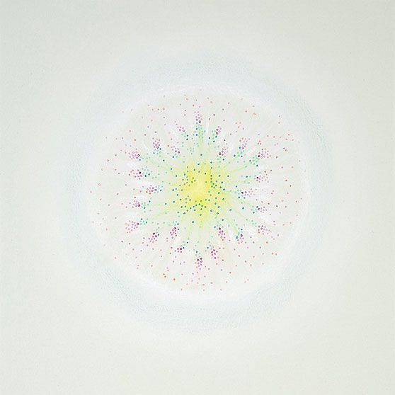 Karin Schaefer, Meditation 9/19/10, 2011 ink, colored pencil and pastel on paper 10 x 10 inches
