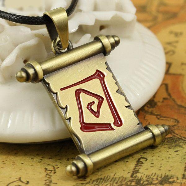 Dota 2 Town Portal Scroll Pendant Necklace