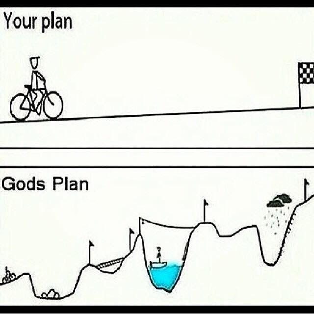 Trusting God's plan.
