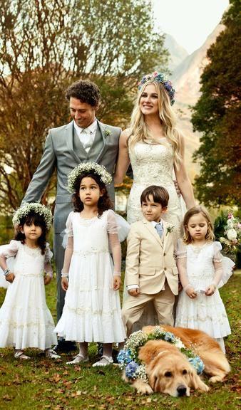 """Fiorella Mattheis e Flávio Canto se casam em cerimônia no campo: 'Foi singelo, lindo e diferente de tudo que já vi"""""""