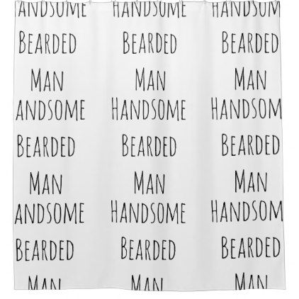 HIPSTER SHOWER CURTAIN HANDSOME BEARDED MAN - home gifts ideas decor special unique custom individual customized individualized