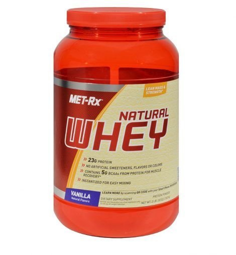 Met-Rx Instantized Natural Whey Protein Vanilla – 2 Lbs