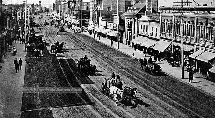 Jasper Ave. looking west from 99 St., 1906. Canada