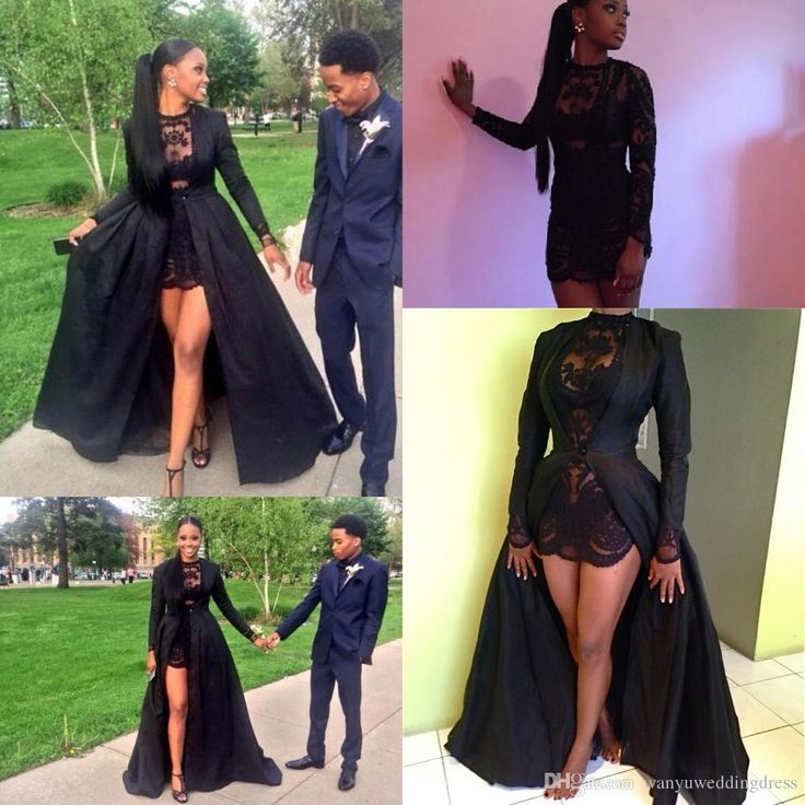 Burgundy Prom Dresses Two Piece 2015 Black Jewel Prom Dresses With Long Sleeve Party Evening Gown Detachable Coat Plus Size Illusion Lace Short Sheath Custom Made Dresses For Prom From Wanyuweddingdress, $125.66| Dhgate.Com