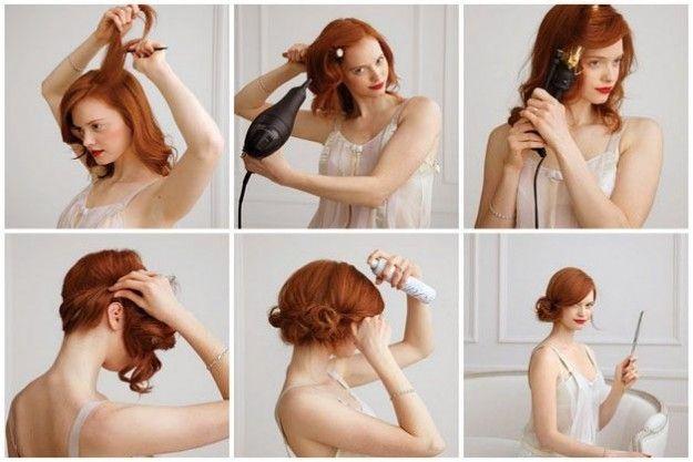 Acconciature capelli lunghi con trecce, code di cavallo e chignon