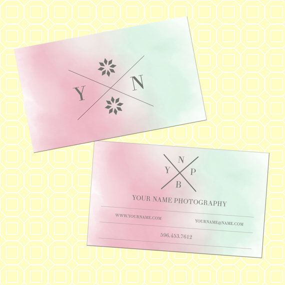 Pre Made Cotton Candy Business Cards Modern By Royalmarket