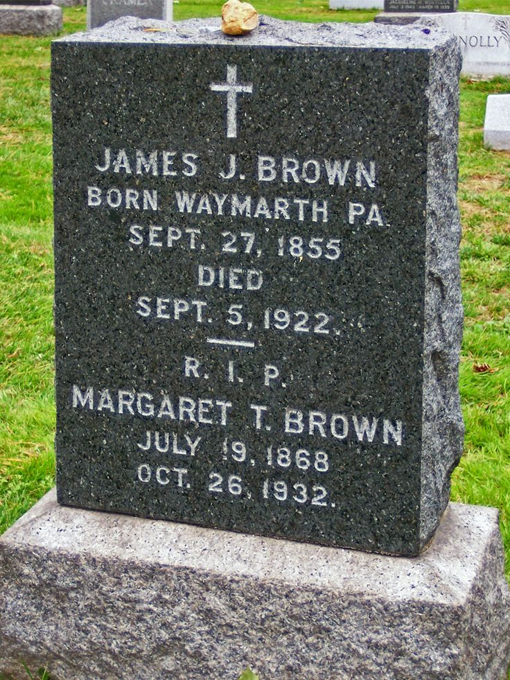"""Margaret """"Unsinkable Molly Brown"""" Brown' age 65, cerebral hemorage, interred Cemetery of the Holy Rood, NY"""
