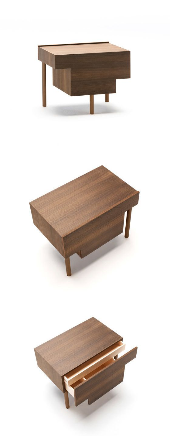 Marco Guazzini Stilt Bedside Table   Bedside Table With Supporting Frame In  U201cfoldingu201d Of MDF Thick Veneered With Elm Or Thermo Oak Plates With  Water Based ...