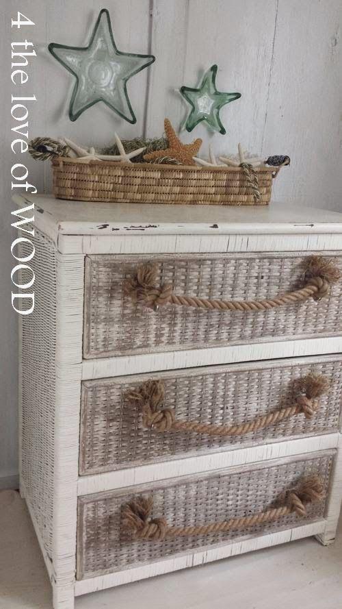 4 the love of wood: BIG SOFT ROPE HANDLES - nautical beach dresser