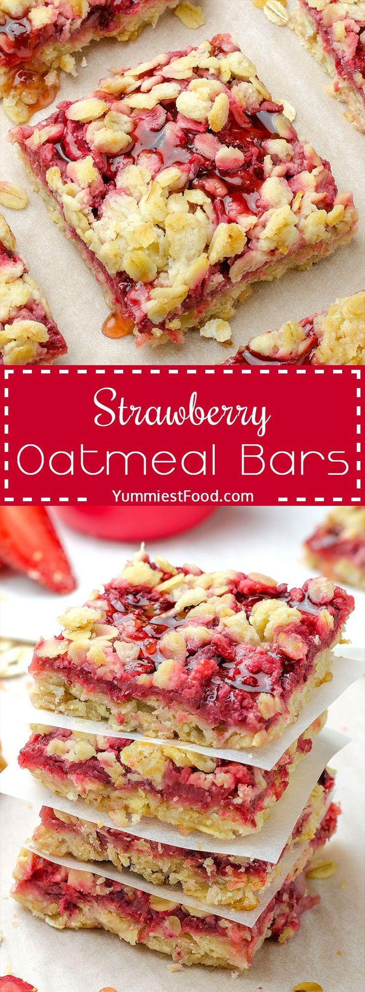 Healthy Breakfast Strawberry Oatmeal Bars These Ma…