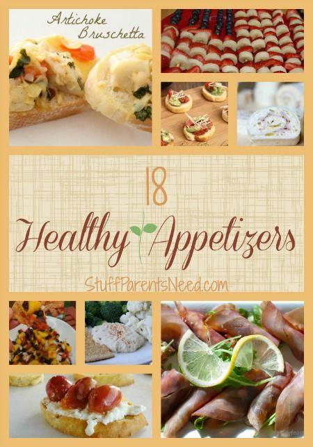 Great list of 18 healthy appetizers to get your meal started off right!