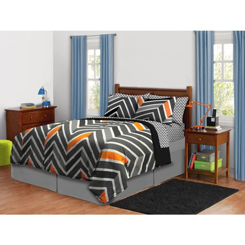 Latitude Zig Zag Neon Bed-in-a-Bag Bedding Set: Kids' & Teen Rooms : Walmart.com