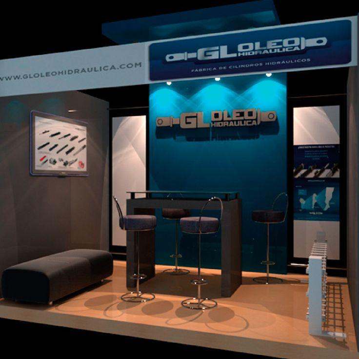 GL Oleohidráulica Diseño de stand para exposición.