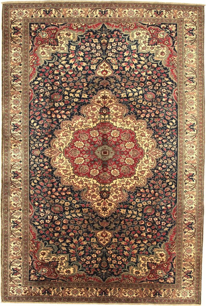 Kayseri 10051 Turkish Oriental Carpet 6 5 X 9 7 Dark Blue