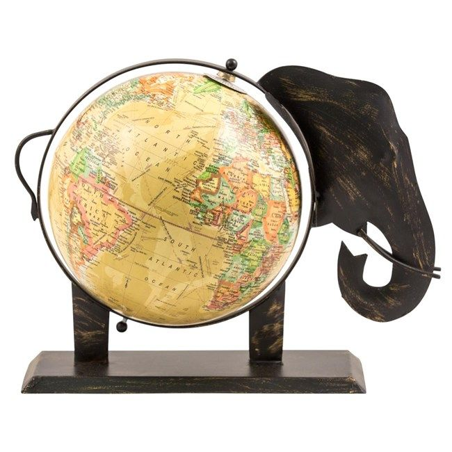 For the armchair traveller? Desktop elephant globe.