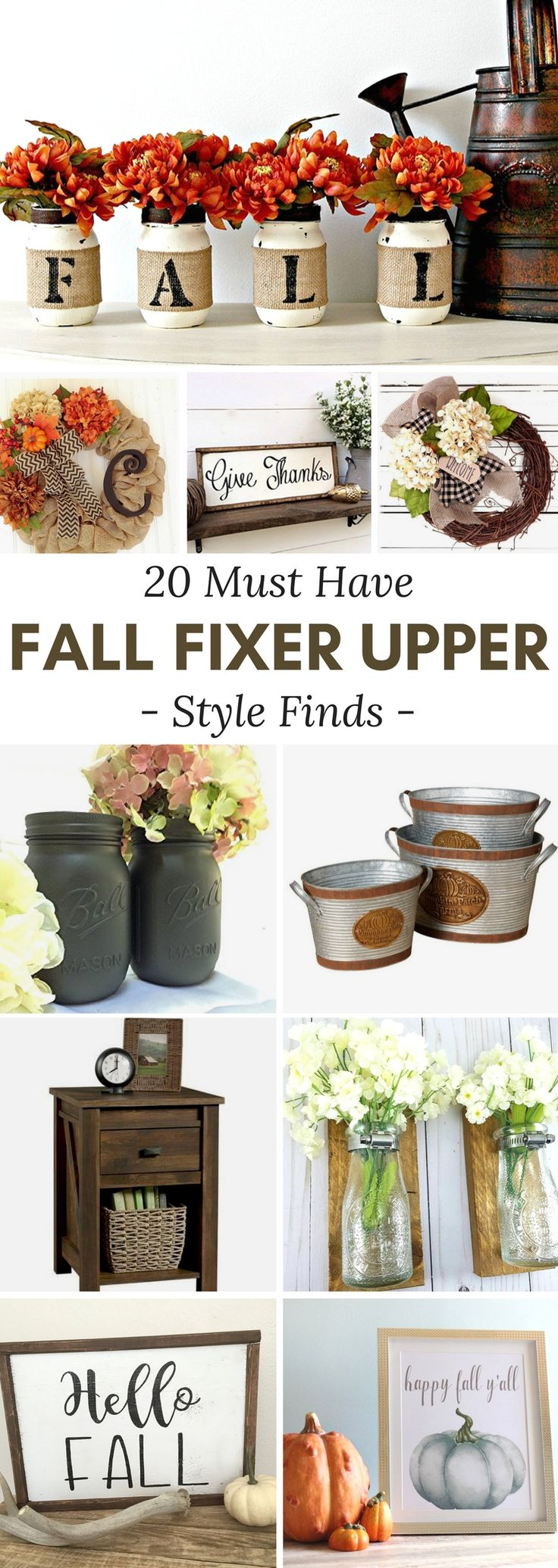 Fall Fixer Upper Style Finds to make your home comfy and cozy for autumn! fall   decor   fixer upper   modern farmhouse
