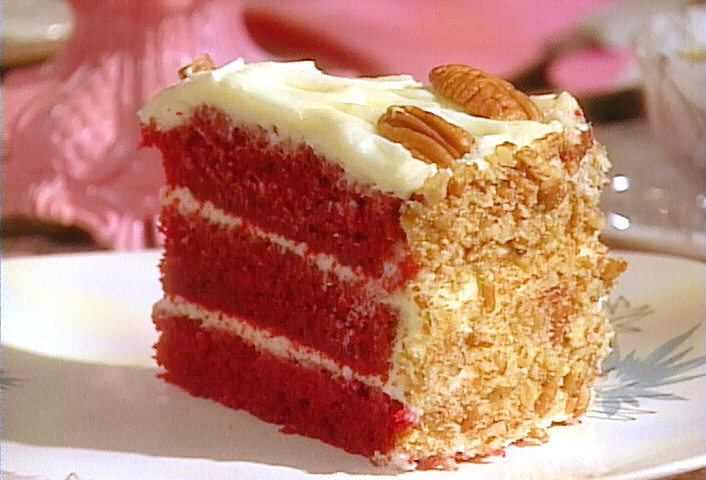Southern Red Velvet Cake from FoodNetwork.com, For my Sis for her Bday next week.... fingers crossed!!