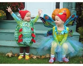 The Very Hungry Caterpillar...adorable homemade costumes!