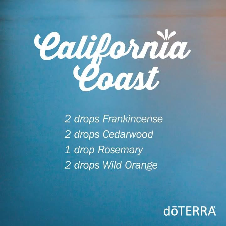 California Coast doTERRA diffuser recipe Renita's verdict: used it to relax with before going to bed and loved the smell!