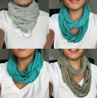 DIY: T-shirt Scarves. I saw on made and worn by @TechSavvyMama and swooned with envy. Then she showed me how to make my own!