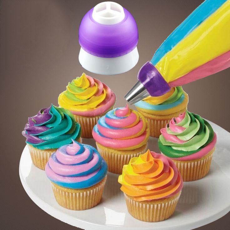 1 pc 2016 Baru Kedatangan Icing Piping Dekorasi Nozzle Converter Adapter Fondant Kue Baking Alat Alat Dapur Pengiriman Gratis