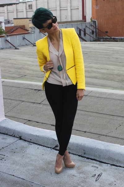 BOLD i love it, the jacket completes the outfit and the shoes don't take away too much from the outfit all together.