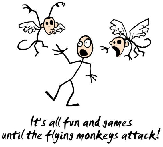 FLYING+MONKEYS+ATTACK++Custom+T+Shirt+by+HotMonkeyGraphics+on+Etsy,+$18.00