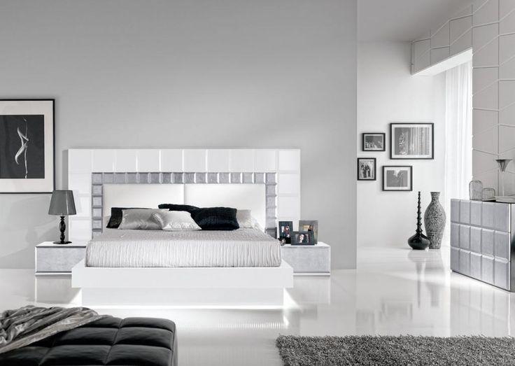 dormitorio matrimonio gris y blanco  Buscar con Google  DORMITORI