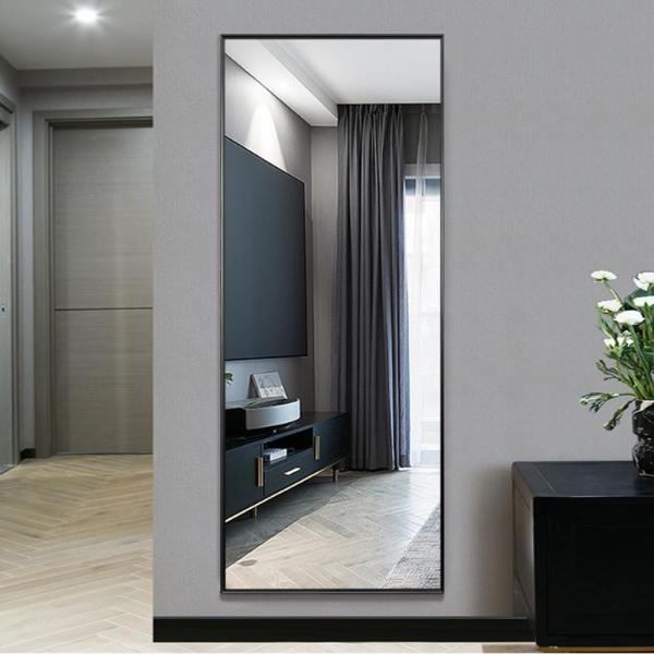Grande De Longitud Completa Moderna Elegante Suelo De Espejo De Pie Inclinada O Colgando En La In 2020 Floor Mirror Full Length Floor Mirror Dressing Mirror #rectangle #living #room #mirror