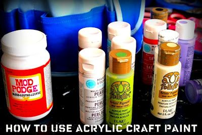 8 tips for how to use acrylic craft paint.