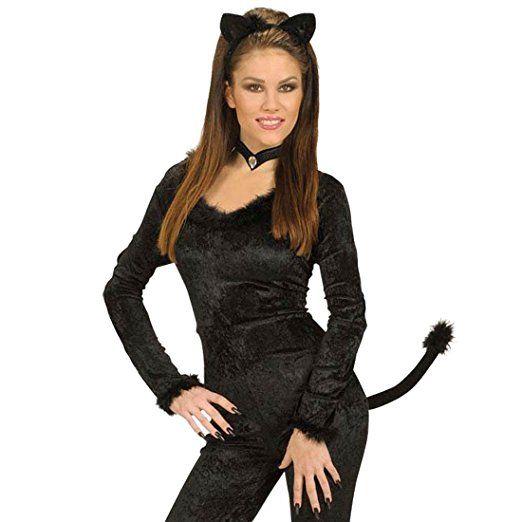 Katzen Kostüm Set - Katzenkostüm Set Tierkostüm Katze Kostümset Fasnet Fastnacht Catwoman Tieroutfit
