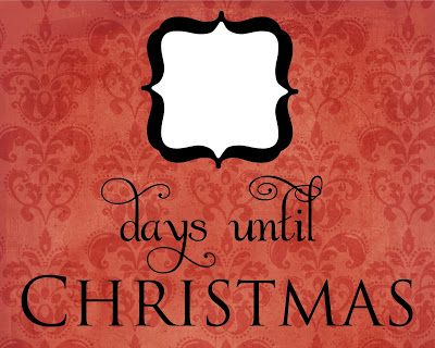 free christmas countdown printable | Click here to download the red damask Christmas countdown.
