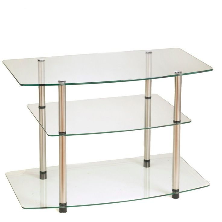 Classic Glass TV Stand – Glass – Convenience Concepts, Clear   – Room