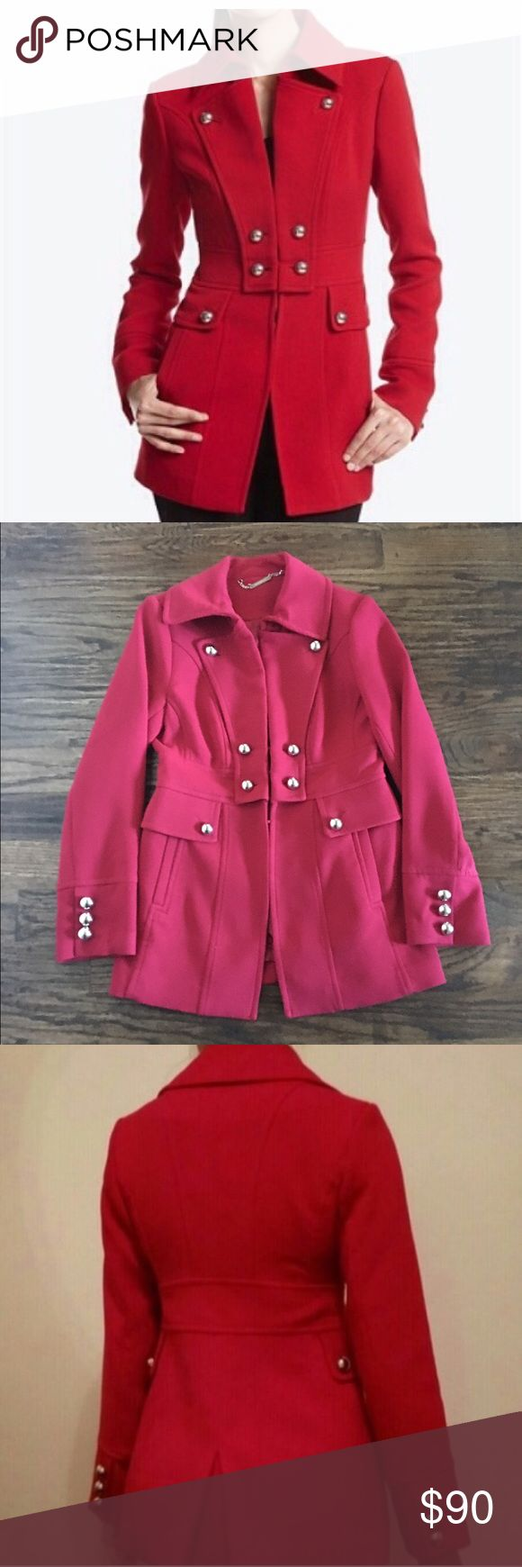 White House Black Market Military Style Coat Excellent condition. Only worn twice. Ponte Stretch Material White House Black Market Jackets & Coats