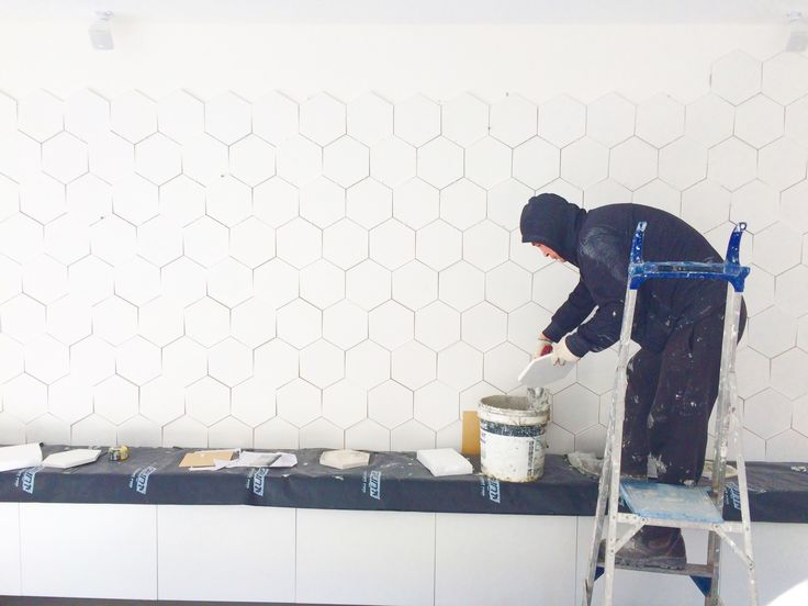 Feature wall installation in Double Bay