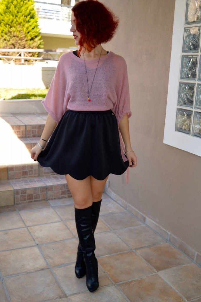Be playful, be girly #overthekneeboots #cute #girly #skirt #sexy #trend @migatoco