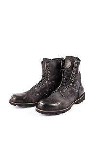 DIESEL Size 43 UK 9 Men's Contrast Genuine Leather Denim Work Boots From POPPRI | eBay