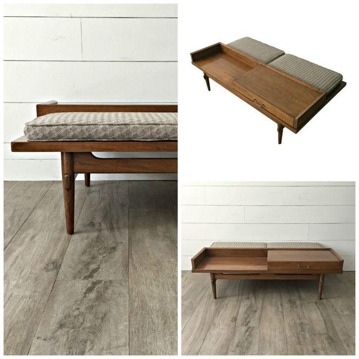 American Of Martinsville Mid Century Coffee Table: Mid Century Coffee Table Bench Designed By Merton L